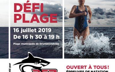 Défi Plage, le 16 juillet prochain!