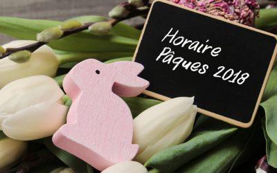 Horaire du week-end de Pâques 2018